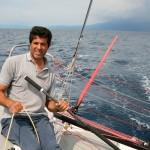 Alessandro Bruno a bordo di Tenace