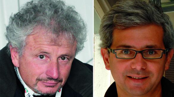 """Paolo Semeraro (a destra) e Giovanni Ceccarelli sono """"i papà"""" del Neo 400."""