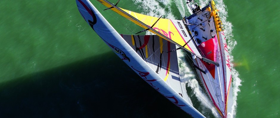 9th March 2014. ENGLAND, The Solent. Abu Dhabi Ocean Racing.