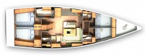 il layout della barca che abbiamo testato
