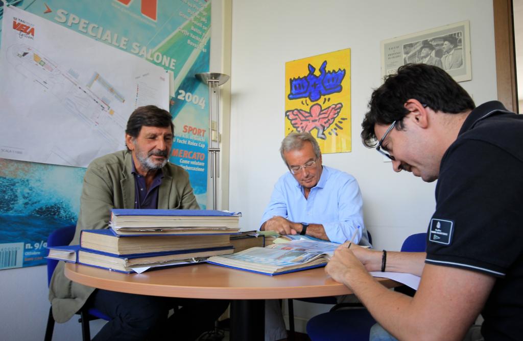 Paolo Martinoni (sx) e Corrado Di Majo (centro) sono passati a trovarci in redazione
