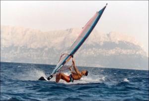 Pedote sul windsurf a Follonica nel 1994...