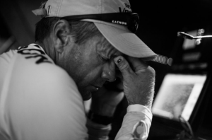 Chris Nicholson dopo l'incidente. Foto di Brian Carlin / Team Vestas Wind/ Volvo Ocean Race