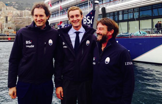 Da sinistra, John Elkann, Pierre Casiraghi, Giovanni Soldini