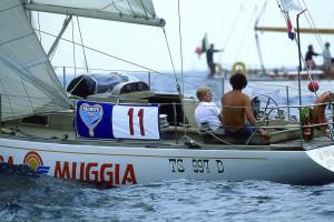 Paolo Rizzi con la madre Angela alla partenza della Brooklyn Cup del 1985
