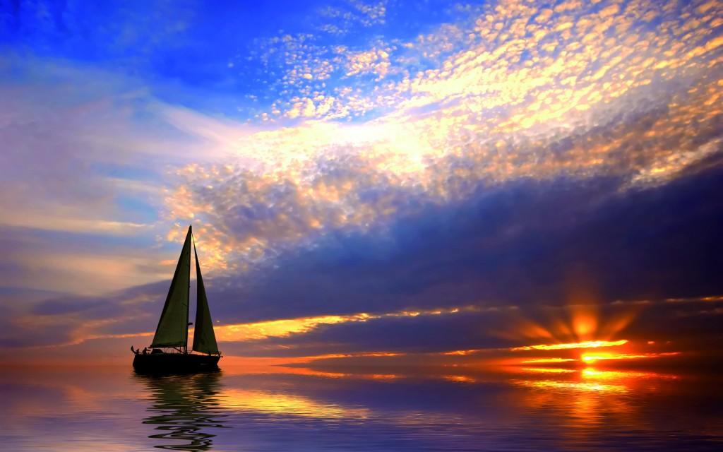 Sail-Boat-Sailing-Sea-Sunset-Hd-1281622