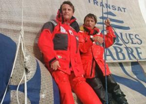 Laurent (a destra) e Yvan Bourgnon alla Transat Jacques Vabre del 1999