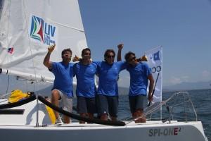 I ragazzi del CC Roggero di Lauria, leader della Italian Sailing League