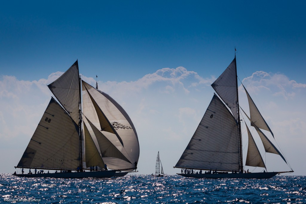 Cannes, France, 25 September 2014 Panerai Classic Yacht Challenge 2014 Regates Royales 2014 Moonbeam III and Moonbeam IV Ph: Guido Cantini/Panerai/Sea&See.com