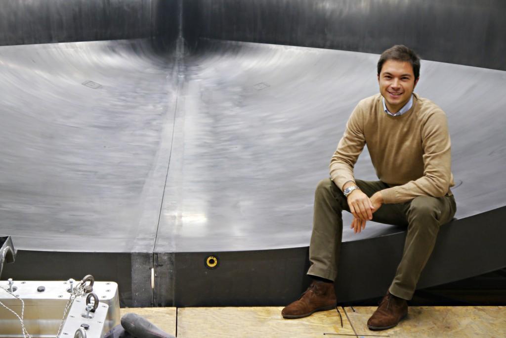 Marcello Persico in the Persico Marine Boatyard in Bergamo (Italy)