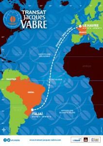 Il percorso della Transat Jacques Vabre