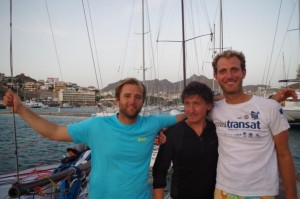 A Mindelo, Capo Verde, Alberto Bona tra Benoît Hantzperg e   Pierre-Marie Bazin