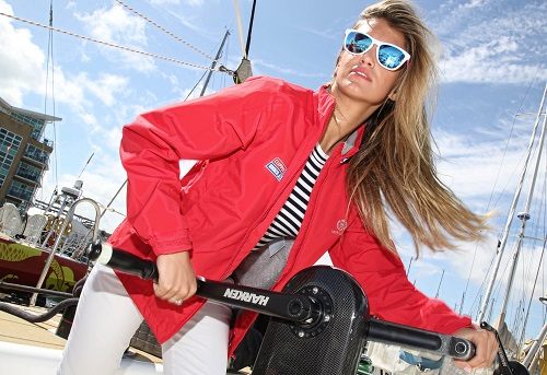 Amy Willerton poses for photographs as part of the Clipper Round the World Race.