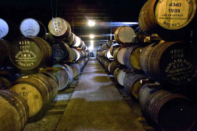 Le cantine della distilleria Highland Park