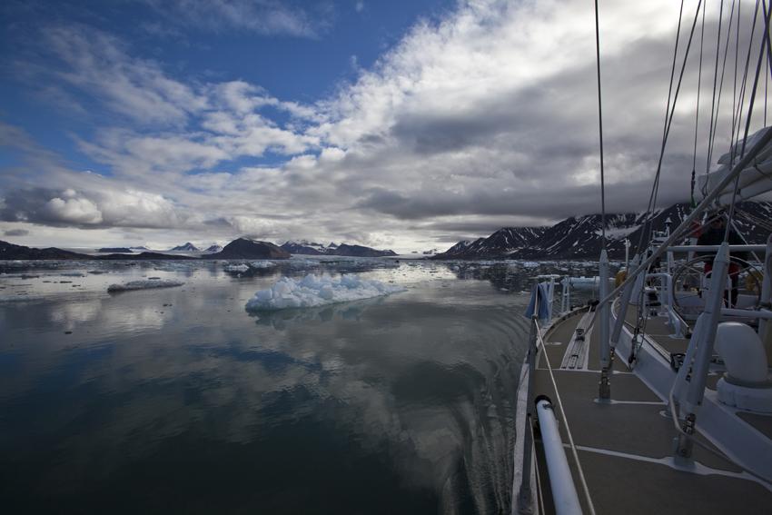 Nel fiordo di Ny-Alesund