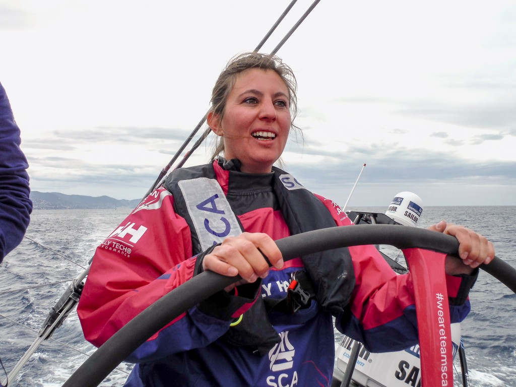 October 01, 2015. Genoa Boat Show. ProAm 3 onboard Team SCA