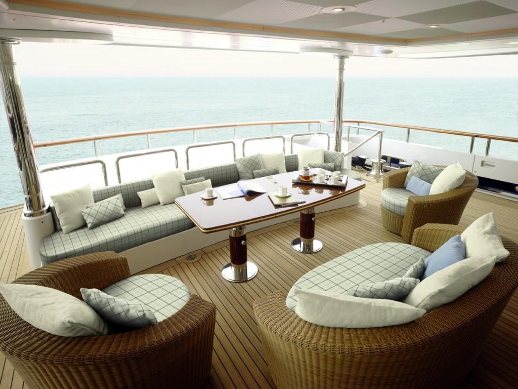 Con il tessuto Tempotest Home vengono realizzati gli arredi degli yacht più esclusivi, dove la qualità è sempre al primo posto.
