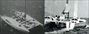 """Il catamarano """"Arx"""" a bordo del quale avvenne l'omicidio"""
