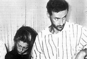 Filippo De Cristofaro e Diane Beyer al momento dell'arresto