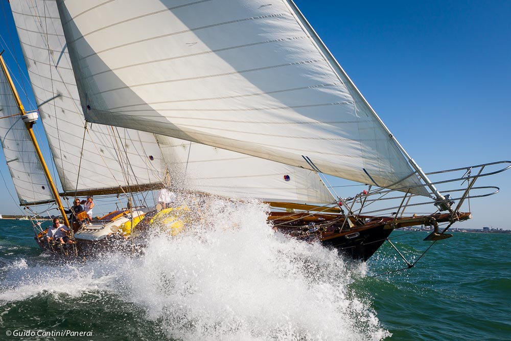 Cowes, Isle of Wight, UK - 19 July 2016 - Panerai Classic Yachts Challenge 2016 British Classic Week 2016 Infanta Ph: Guido Cantini / Panerai / SeaSee.com