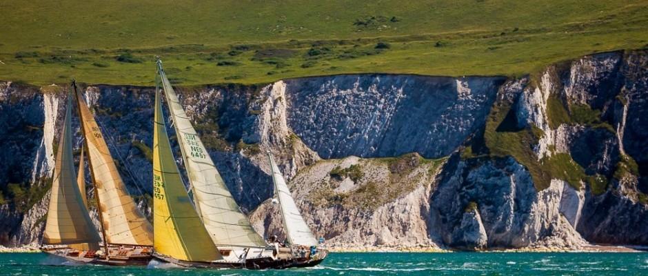 Cowes, Isle of Wight,  UK  - 19 July 2016 - Panerai Classic Yachts Challenge 2016 British Classic Week 2016 Lutine and Le Rayon Vert  Ph: Guido Cantini  /  Panerai / SeaSee.com
