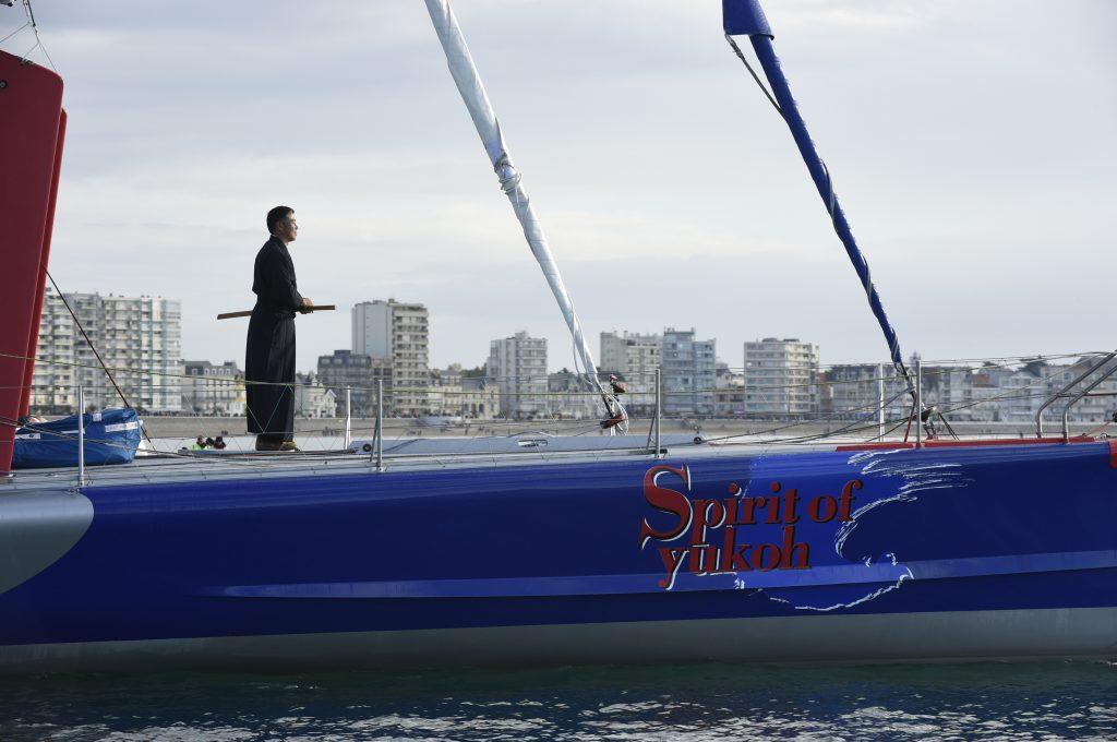 Kojiro Shiraishi (JAP), skipper Spirit of Yukoh, Ambiance chenal départ du Vendée Globe, aux Sables d'Olonne le 6 Novembre 2016 - Photo Olivier Blanchet / DPPI / Vendee Globe