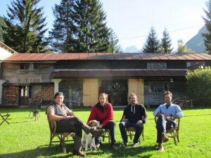Da sinistra Giuseppe Ferreri, Oscar Kravina, Tobias Blome e Daniel Kravina