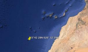 Il luogo dell'affondamento (fonte Yachting World)