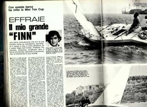 La presentazione del mini tonner Effraie sul numero di dicembre/gennaio 1976 del Giornale della Vela