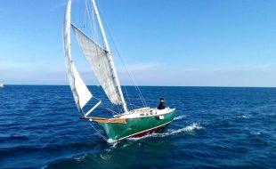 Un catboat ottimo veliero, sicuro, equilibrato, veloce e divertente.