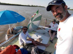 Mal di Plastica navigation in the Po river