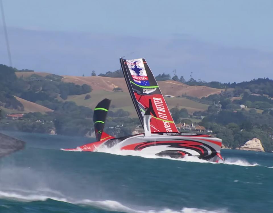 Team New Zealand capsizes video