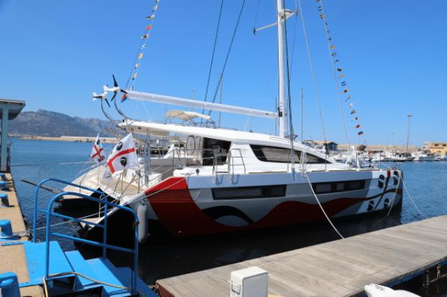 Andrea Mura's sailing cat